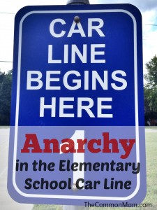 Anarchy in the Elementary School Car Line